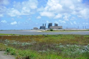 This natural gas-fired power plant along the south Texas coast has lower pollution emissions than similarly sized coal-fired plants.
