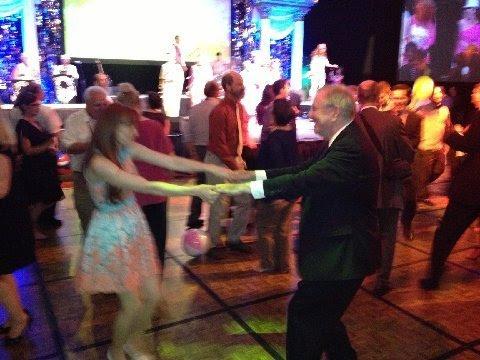 Steve Forbes dancing