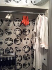 Closet with robes.