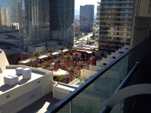 The view of Marque dayclub from the terrace