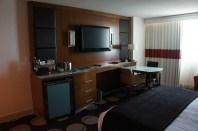 Minibar, dresser, TV and desk unit