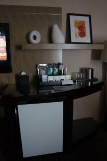 Minibar setup.