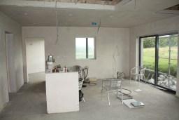 Kitchen showing internal window
