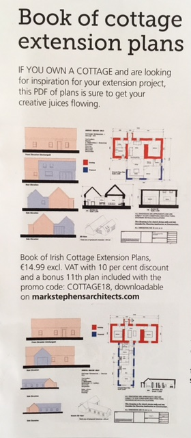 Our book on Irish Cottage Extension Plans featured in