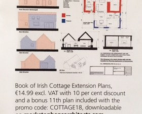 Our book of cottage extension plans featured in Self Build Ireland magazine