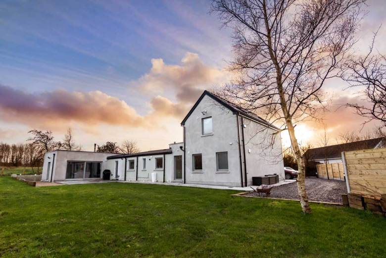Double extension to traditional Irish cottage in County Sligo
