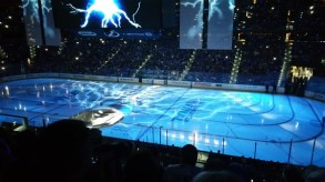 Tampa Bay Lightning Pre-game show before Game 1 of the 2015 Stanley Cup Finals at Amalie Arena