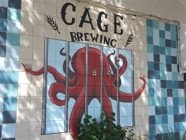 The sign at Cage Brewing in St. Pete
