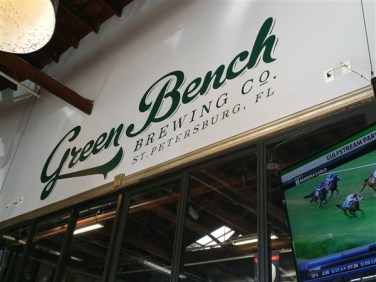 Green Bench Brewing company located near Tropicana Field in St. Petersburg, FL