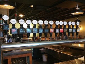 The beers on tap at 3 Daughters Brewing