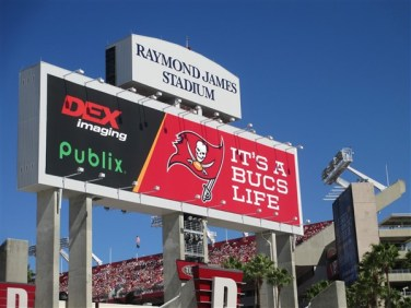 Its almost always sunny when you catch a Tampa Bay Buccaneers game at Raymond James Stadium