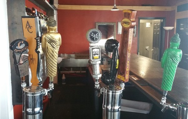 The tap selection at Engine No. 9 in St. Petersburg, FL