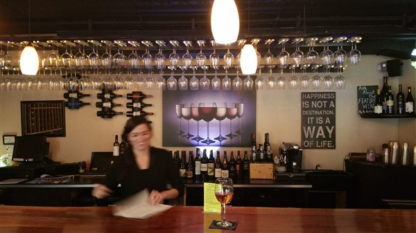 The Wine Madonna in downtown St. Pete serves over 40 wines by the glass