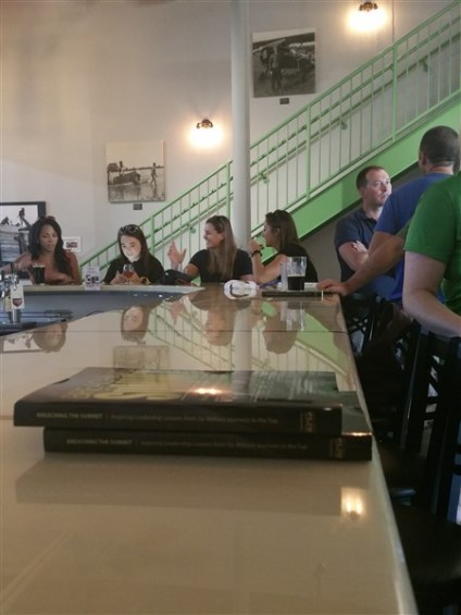 The bar area at Flying Boat Brewing in St. Pete