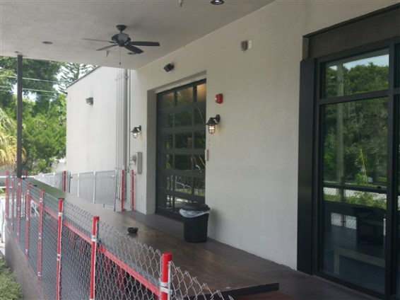 The front patio area at Flying Boat Brewing in St. Pete