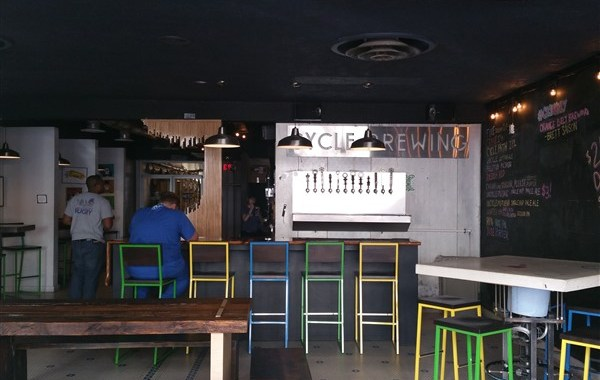Interior of Cycle Brewing in St. Pete, FL