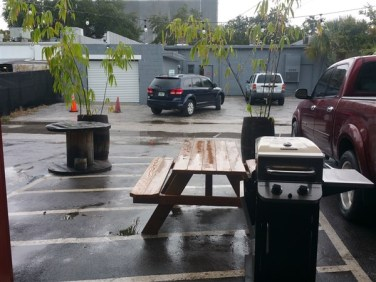 The patio at Avid Brew Company in St. Pete, FL