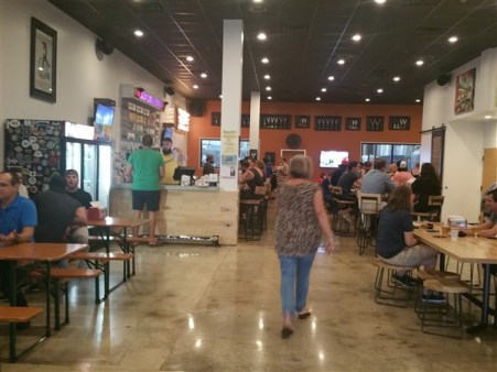 The tap room at Brew Bus Brewing in Tampa, Florida