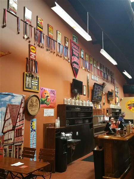 Front bar area at Cigar City Brewing in Tampa,