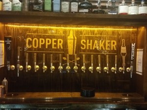 The draft beer at Copper Shaker cocktail bar in downtown St. Pete, FL