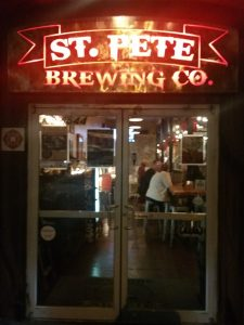 Front Entrance at St. Pete Brewing in St. Petersburg, Florida