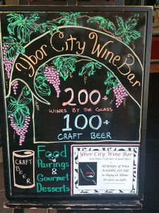 Ybor City Wine Bar in Tampa features 200 wines by the glass and 100 craft beers