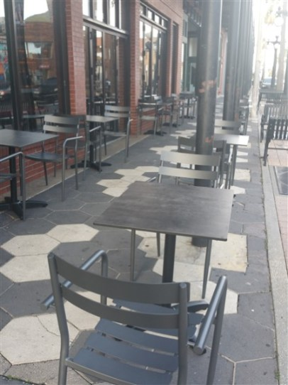Sidewalk patio at Zydeco Brew Werks in Centro Ybor in Tampa