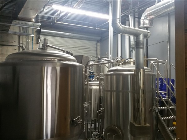 Brewery equipment at Dissent Craft Brewing in St. Petersburg, Florida