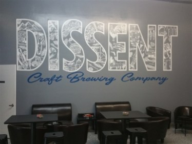 Sign for Dissent Craft Brewing Company in St. Petersburg, Florida