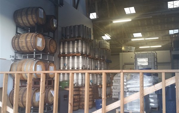The brewery at Hidden Springs Ale Works in Tampa, Florida