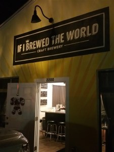 The front entrance at If I Brewed the World in St Petersburg, Florida