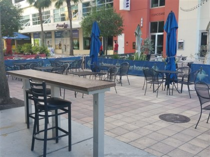 The courtyard patio at the Pour House in downtown Tampa