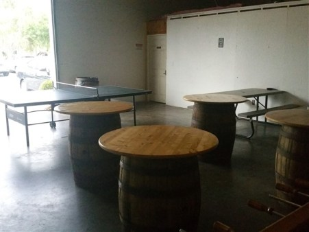 Ping Pong table at Rapp Brewing Company in Tampa Bay