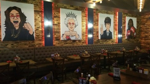 The artwork on the walls at Cask and Lion in Downtown St. Pete