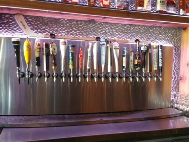 Tap handles at Yeoman's Cask and Lion near Amalie Arena in Downtown Tampa