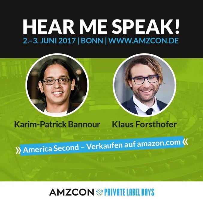 AMZCON Speaker Karim-Patrick Bannour und Klaus Forsthofer