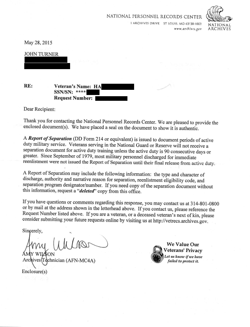 National Archives mailed me sensitive records of other veterans ...