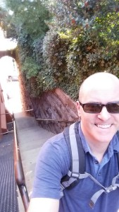 "At the top of the ""Exorcist"" Steps in Georgetown. I climbed these steps to and from my appointment today."