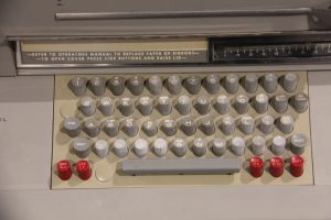 A teletype keyboard at the Living Computer Museum, Seattle, WA