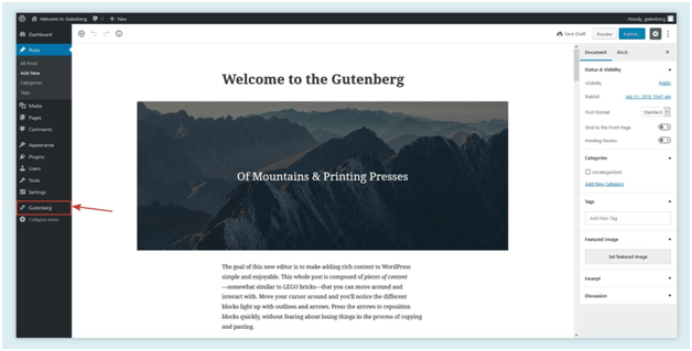welcome to gutenberg