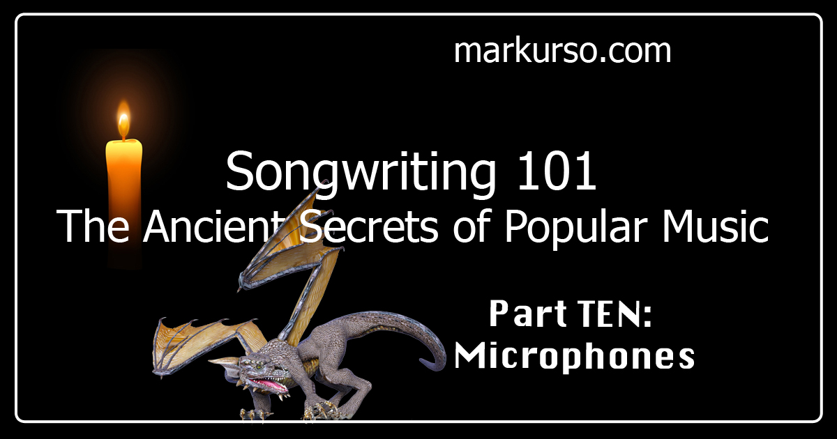 songwriting tips, microphones