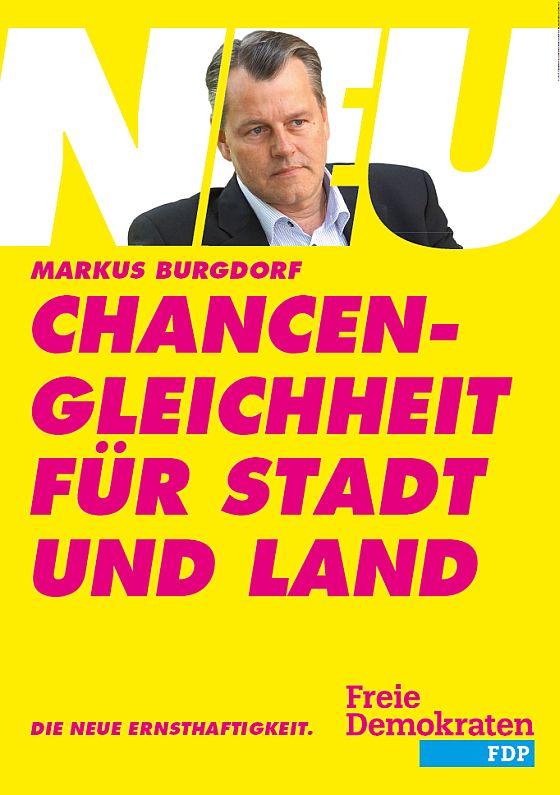 Landtagswahlplakat Markus Burgdorf FDP