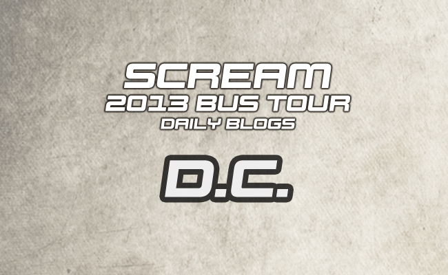 Scream Tour Blog - DC
