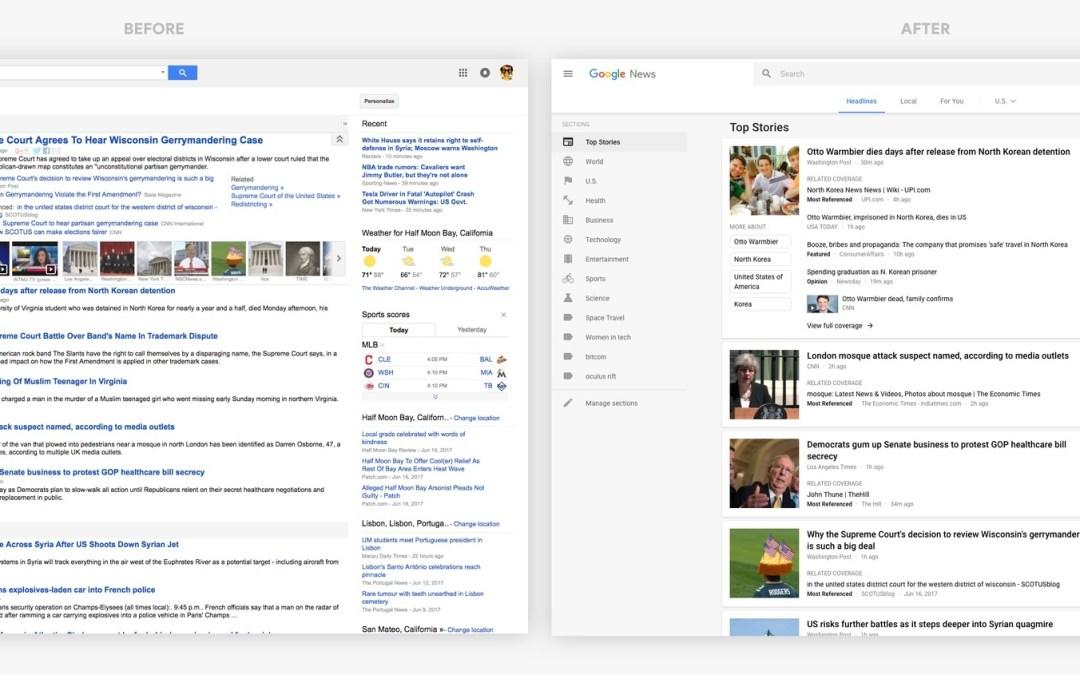 Google News-Seite bekommt ein Redesign