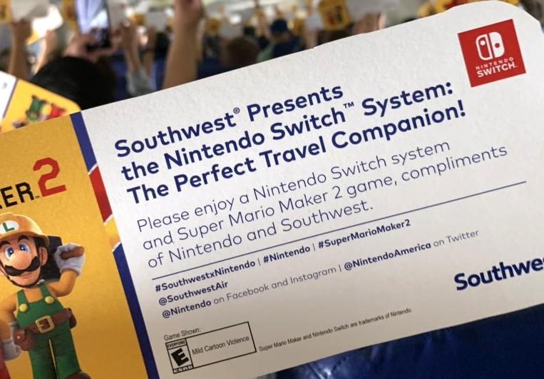 Super Mario Maker 2 Southwest Airlines