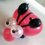 Marienkäfer aus Ballons