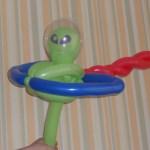 Ballon-Alien mit Raumschiff