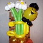 Ballon-Blumenstrauss mit Smiley