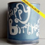 Ballongewicht Spardose Happy-birthday