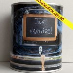 Ballongewicht Spardose Just-married